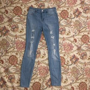 PACSUN SKINNY RIPPED JEGGING JEANS
